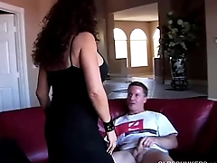 Beautiful big-busted mature latina gives an amazing sloppy blowjob