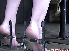 Bastinado punished submissive screams