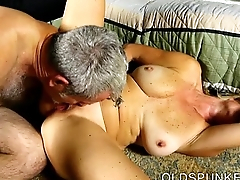 Saucy old spunker is a well-endowed hot fuck and loves sticky facials