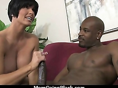 Watching a sexy milf going interracial 3