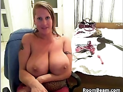 Busty Mom Teasing Her Ass And Pussy