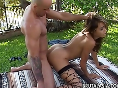 Good-looking big ass Asian bitch has a hot fuck doggy style