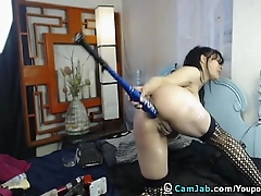 Sexy GirlFucks her Pussy Hard with Massive Dildo - Allhotcamgirls.com