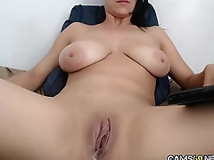 Big Tit MILF Rubs Pussy on Webcam   Cams69.net