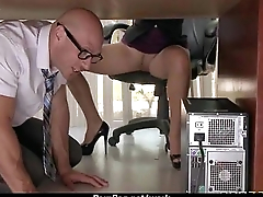 Busty chick is desperate for a raise and fucks her boss and earn it 11