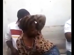Horny Kenyan mboch fingered and fondled by locals