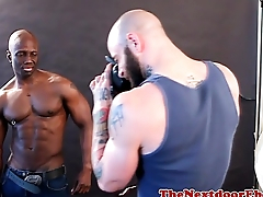 Black muscle stud riding sickly cock