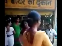 Indian naughty street girls doing naughty act greater than road