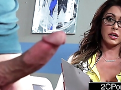 Strapping Busty Doctor Jessica Jaymes Milking Her Patient