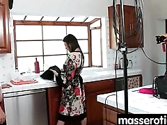 Sensual Oil Massage turns to Hot Lesbian action 10