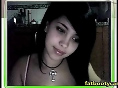 Cute Goth Girl on cam - fatbootycams.com