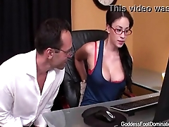 Dispirited Nerd Makes Uncle Cum Very Hard With Her Smelly Legs