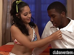 Exotic teen Andrea Kelly take a big black cock