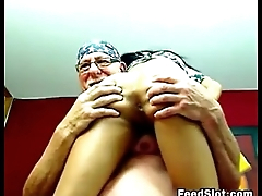 Old Guy And A Whore Fucking Live
