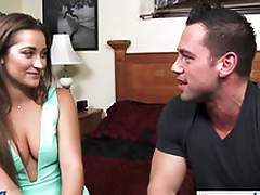 Babe Danie Daniels hops on his big dick and rides him hard