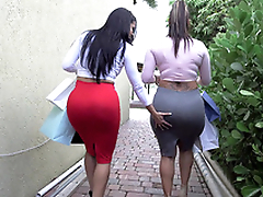 Two big ass bitches Spicy J plus Diamond Kitty got back from shopping