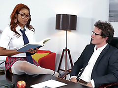 Jenna J Foxx seducing her boss Robby Blast in the office