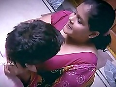 Chubby Indian / Desi Lady with younger alms-man