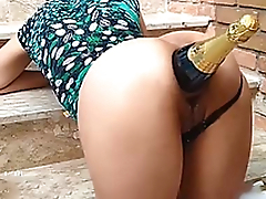 Ass Destruction With Champagne Bottle / Fucking her whore