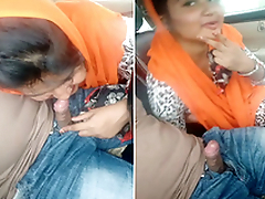 Indian Unladylike Sucking lover Dick On Car