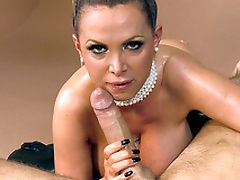 Buxom MILF Nikki Benz genius birthday fellatio to alms-man in first-person porn