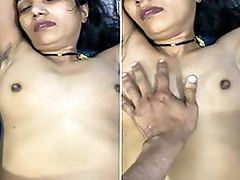 Today Exclusive- Super Hot Look Desi Wife Knocker Pressing And Tight Pussy Hard Fucked By Hubby