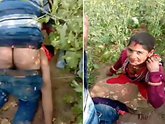 Today Exclusive- Desi village Couple Caught Dimension Sex Outdoor