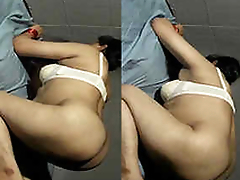 Beautiful college girl drilled by her boyfriend