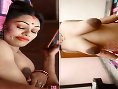 Today Exclusive- Sexy Desi Bhabhi Boob Pressing and Ridding Hubby Dick New Hindi Short Movie