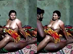 Desi Village Bhabhi Love Ridding Hubby Dick
