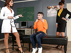 Best gift be worthwhile for student is XXX threesome with sexy nurse and professor