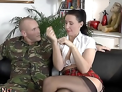 Stockings bitch spunked