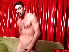 Ripped dude sperm soaked