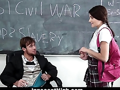 InnocentHigh - School Girl Pressured Beside Strip and Fuck Teacher