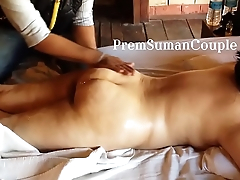 Desi spliced Suman getting nude massage hubby filming [Part 1]
