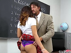 Latina schoolgirl needs sex help